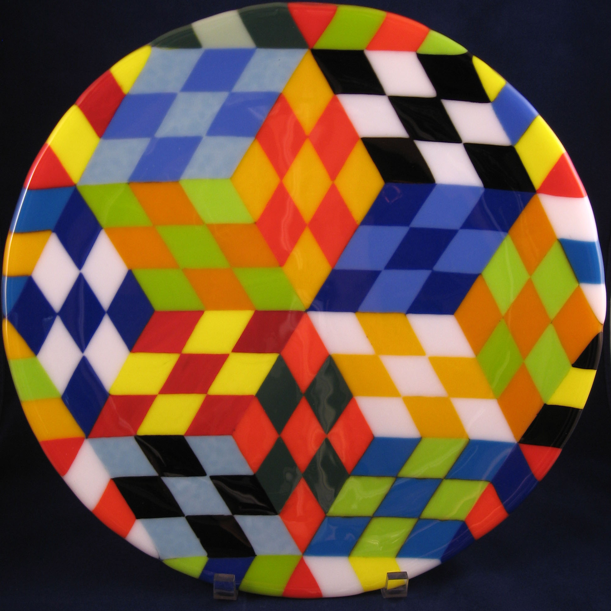 Fused Cubism Plate